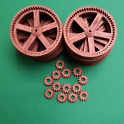 Example Print - RepRap Extruder Drive Gears in Bronze PLA