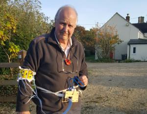 Adrian wearing the sensor belt